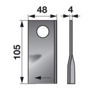 Kreiselmäherklingen rechts 949241.1 zu Claas Trommelmäher