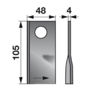 Kreiselmäherklingen links 949242.1 zu Claas Trommelmäher
