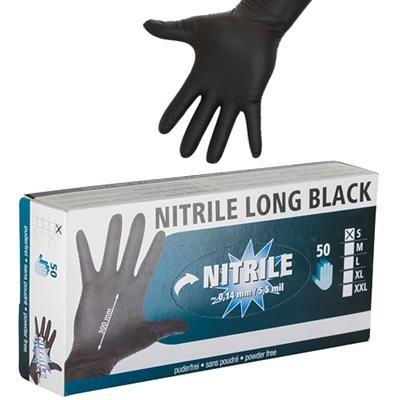 Einmalhandschuhe Nitrile Long Black Größe XXL