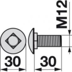 Flachrundschraube 01172791 zu Deutz-Fahr Trommelmäher
