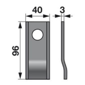 Kreiselmäherklingen 98P zu Morra Trommelmäher