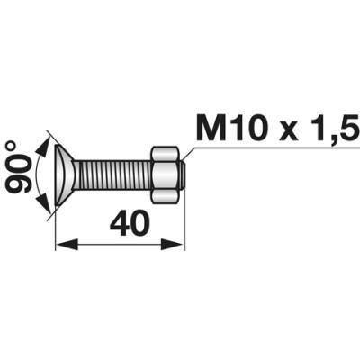 Planetenschraube M10x40 mit Mutter zu Amazone