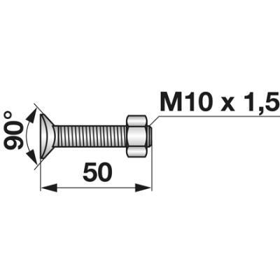 Planetenschraube M10x50 mit Mutter 10 Stück