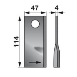 Kreiselmäherklingen links 1122350 zu Stoll Trommelmäher