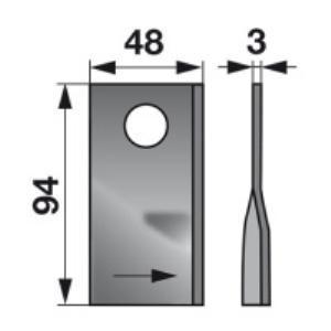 Kreiselmäherklingen links VGTF71 zu PZ-Vicon Trommelmäher