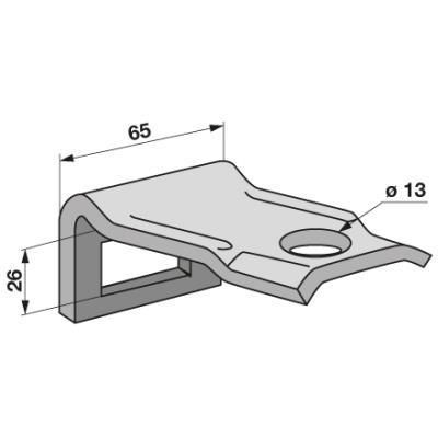 Zinkenhalter 45x12mm für Rahmen 50x12mm