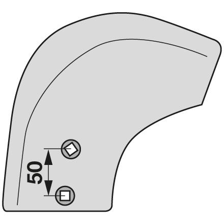 Dungeinlegestreichblech FR2 STR R Rechts passend für Gassner