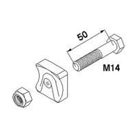 Claas Zinkenhalter komplett M 14 x 50 mm