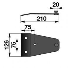 Messerhalter PZ0243K0 zu Vicon-PZ Trommelmäher