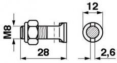Moty-Mayer  Messerkopfschraube mit Senkkopf u. Nase