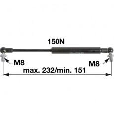 Gasdruckfeder 04414159 für Dachluke zu Deutz - Fahr