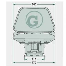 Klapp-Sitz, Traktorsitz mechanisch gefedert