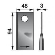 Kreiselmäherklingen links 104339.0 zu Claas Trommelmäher