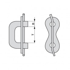 Kettenverschlussglied - für Kette 10x28 mm