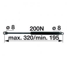 Gasdruckfeder 6-100.20.320 zu Mauser