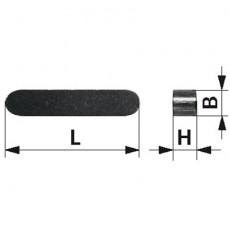 Passfeder 6x6x25 mm