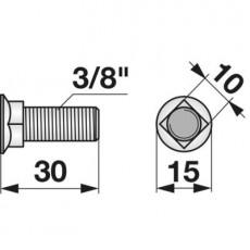 Pflugschraube Vierkant 3/8 Zoll x 30 zu Fiona