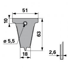 Reform Fingerplatte gezahnt B580.024771