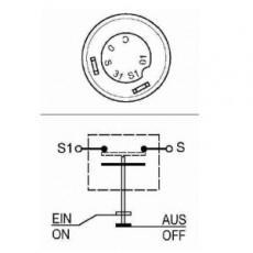 Druckknopfschalter Taster gelb für Horn / Hupe