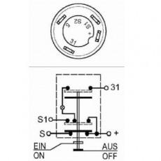 Druckknopfschalter für Parklicht / Begrenzungslicht