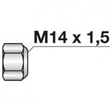 Selbstsichernde Sechskantmutter M 14x1,5