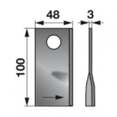 Kreiselmäherklingen links 952729.0 zu Claas Trommelmäher