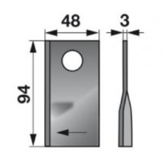 Kreiselmäherklingen rechts VGTF70 zu PZ-Vicon Trommelmäher
