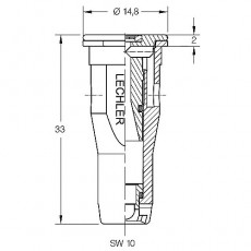 Injektordüse Kunststoff ID3 120-05 braun